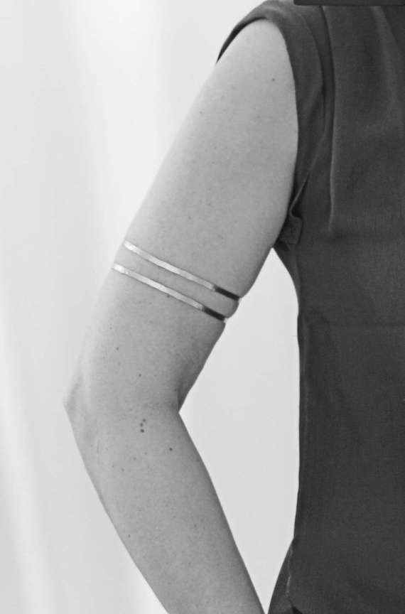 96a11cfdd I love this thin delicate hammered metal upper arm, forearm cuff/bangle. *