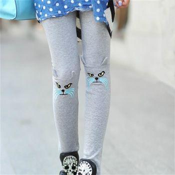 Nouvelle mode automne automne femmes leggings broderie 3D cat motifs coton leggins casual harajuku neuf pantalons mo