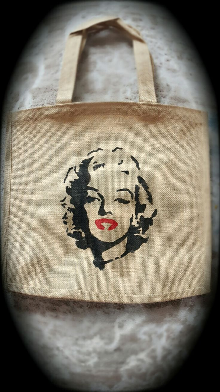 Marilyn Monroe Çanta #handmade #çanta #çuval