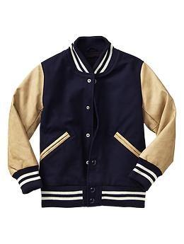 Stripe letterman jacket | Gap