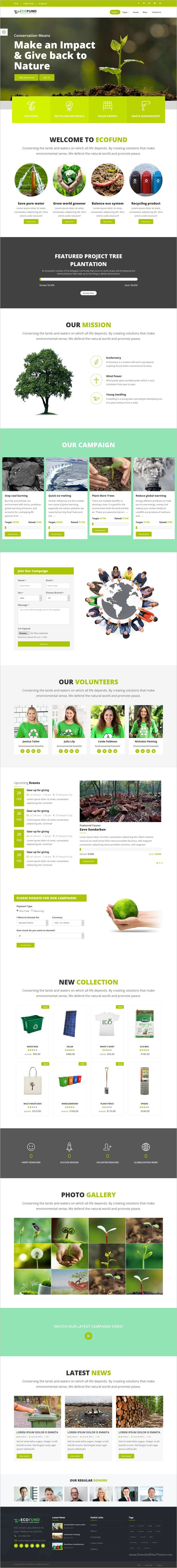 EcoFund is a wonderful responsive 2in1 #HTML5 bootstrap #template or charity, #NGO, non-profit organization, #donation, church or a fundraising websites download now➩ https://themeforest.net/item/ecofund-nonprofit-environment-recyling-solar-html5-template/19177314?ref=Datasata