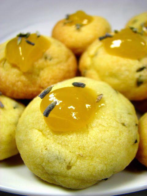 Just My Delicious: Kruche Lawendowe Ciasteczka z Lemon Curd
