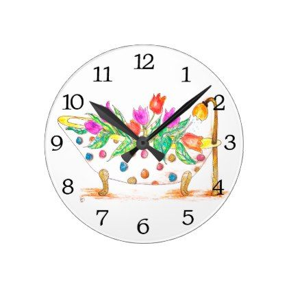 Bathroom Wall Clock (You can Customize) - home gifts ideas decor special unique custom individual customized individualized