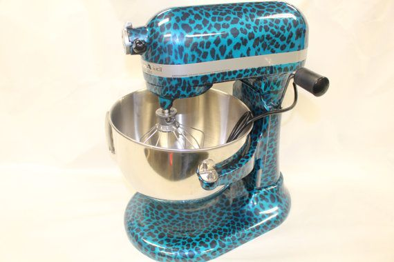 Custom cheetah print hydrodipped Kitchenaid 5Qt. by PowderMasters