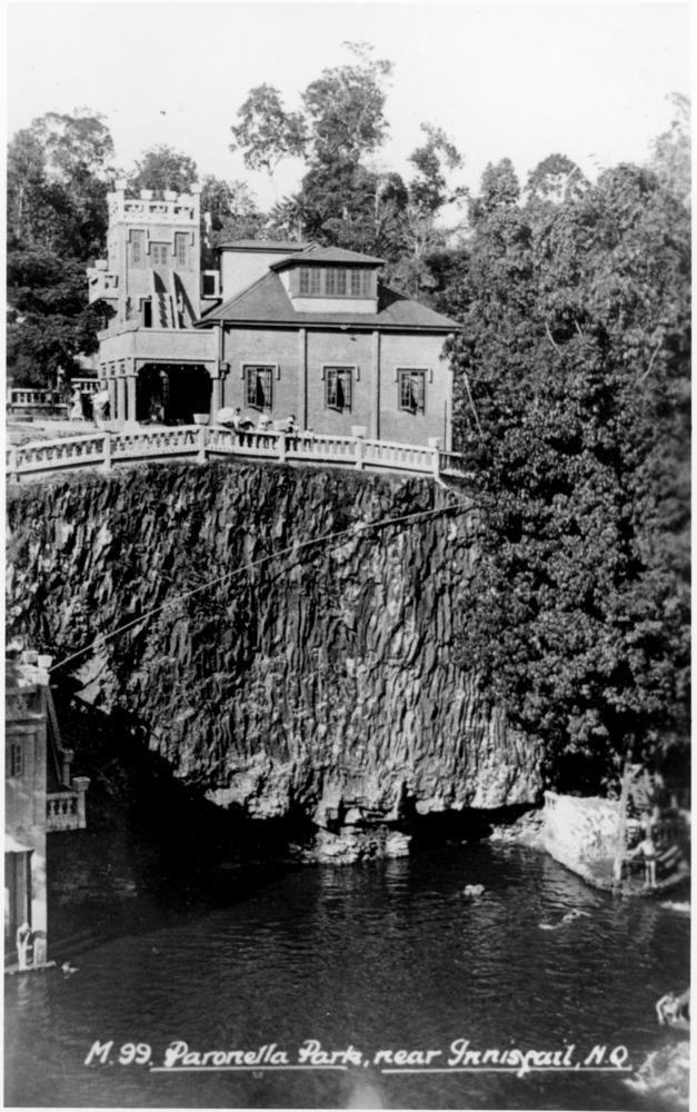 Buildings at Paronella Park, Mena Creek, Queensland, ca.1939
