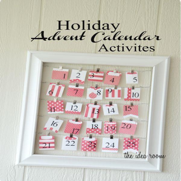 Holiday Advent Calendar Activities