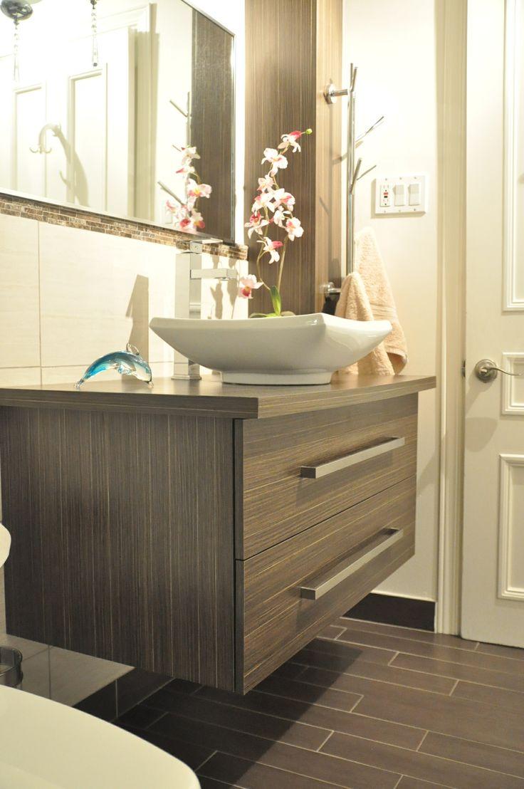 Vanit en lamin europ en salle de bain pinterest for Cabinet salle bain