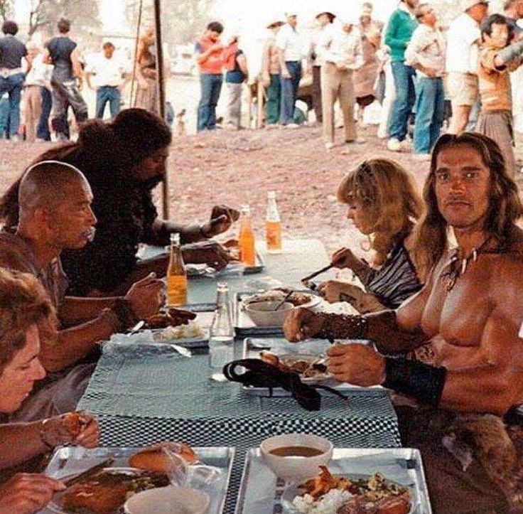 Behind the scenes on Conan the Destroyer