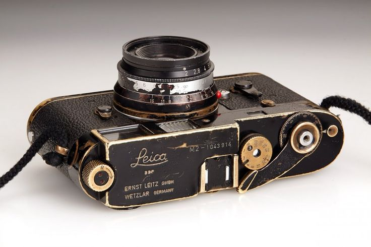 Original black painted Leica M2 owned by famous Magnum photographer Bruno Barbey with matching and rare black 8-element Summicron 2/35 mm