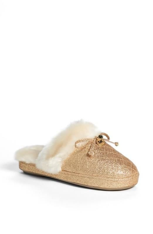 Gold slippers; fit for a princess.