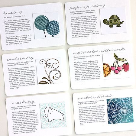 Stamping techniques.