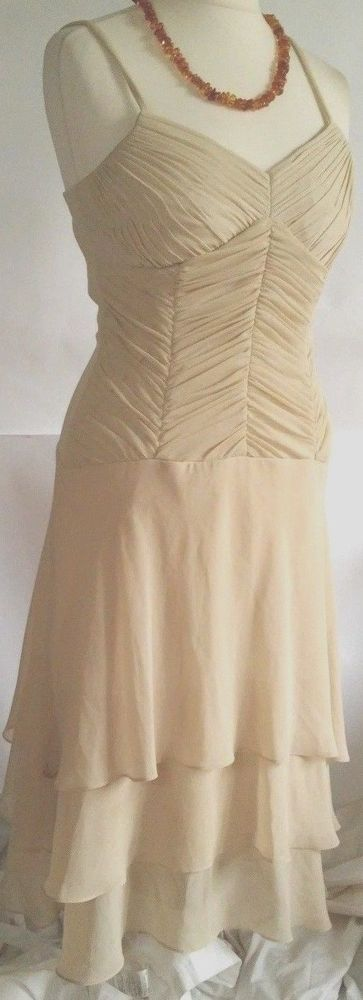 Sangria  Dress Beige Women's Size 10  ,Tall 10  #Sangria #Maxi #Cocktail