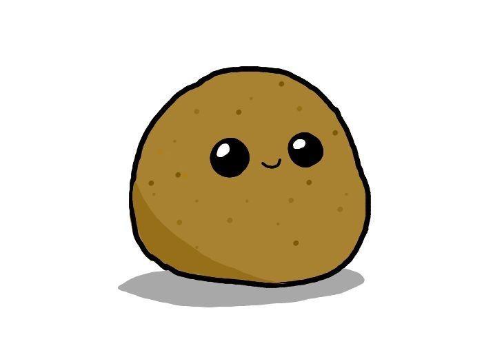 fivengers in 2020 potato drawing cute potato funny doodles cute potato funny