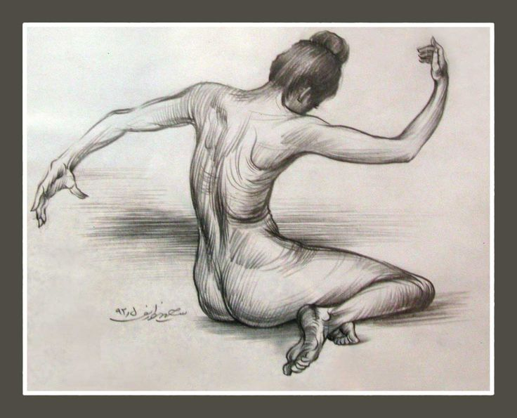 nude - drawing pencil