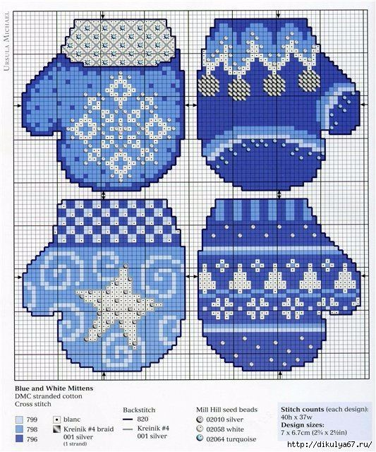 Interesting ideas for decor: Christmas embroidery. Рождественская вышивка.