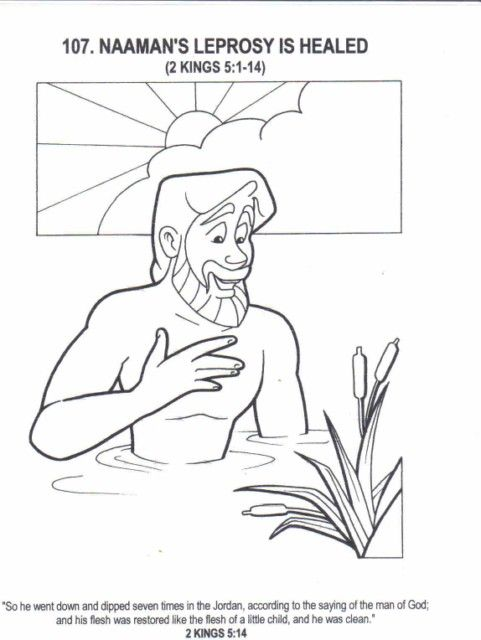 17 best bible divkingdom naaman images on pinterest for Naaman the leper coloring page