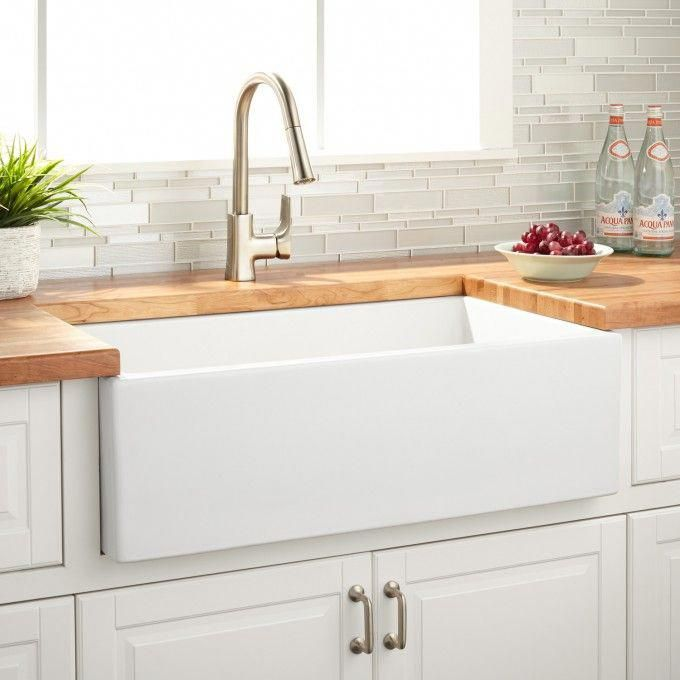 33 Grigham Reversible Fireclay Farmhouse Sink White Farmhouse Sink Kitchen Fireclay Farmhouse Sink Kitchen Remodel