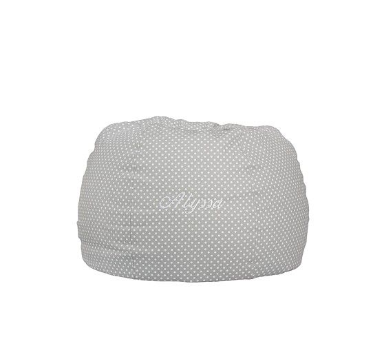 Gray Mini Dot Anywhere Beanbag Pottery Barn Kids Bean