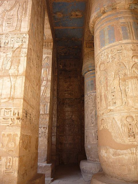 LUXOR (THEBES), EGYPT - Temple of Medinet Habu - 2nd Court/ ЛУКСОР, ЕГИПЕТ - Храм Мединет-Хабу - 2-ой дворик by Miami Love 1, via Flickr: