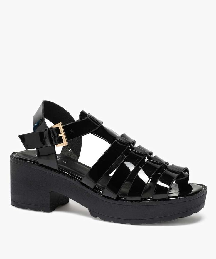 Sandales plastique Noir