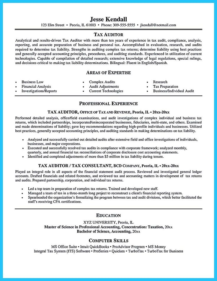 awesome Making a Concise Credential Audit Resume, Check more at - tax auditor sample resume