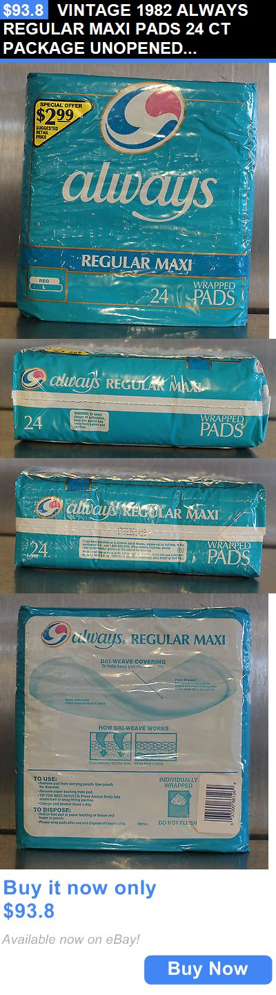 Other Feminine Hygiene: Vintage 1982 Always Regular Maxi Pads 24 Ct Package Unopened Nos BUY IT NOW ONLY: $93.8