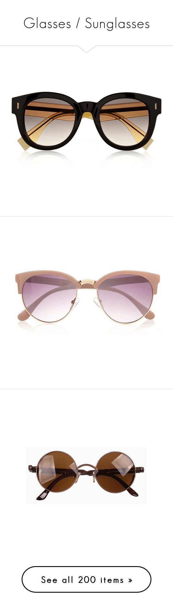 """""""Glasses / Sunglasses"""" by chelseapetrillo ❤ liked on Polyvore featuring accessories, eyewear, sunglasses, glasses, fendi, two tone glasses, fendi sunglasses, two-tone sunglasses, 2 tone sunglasses and fendi eyewear"""