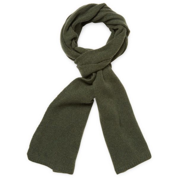 Portolano Men's Ribbed Cashmere Long Scarf - Green ($75) ❤ liked on Polyvore featuring men's fashion, men's accessories, men's scarves, green, mens long scarves, mens scarves and mens cashmere scarves
