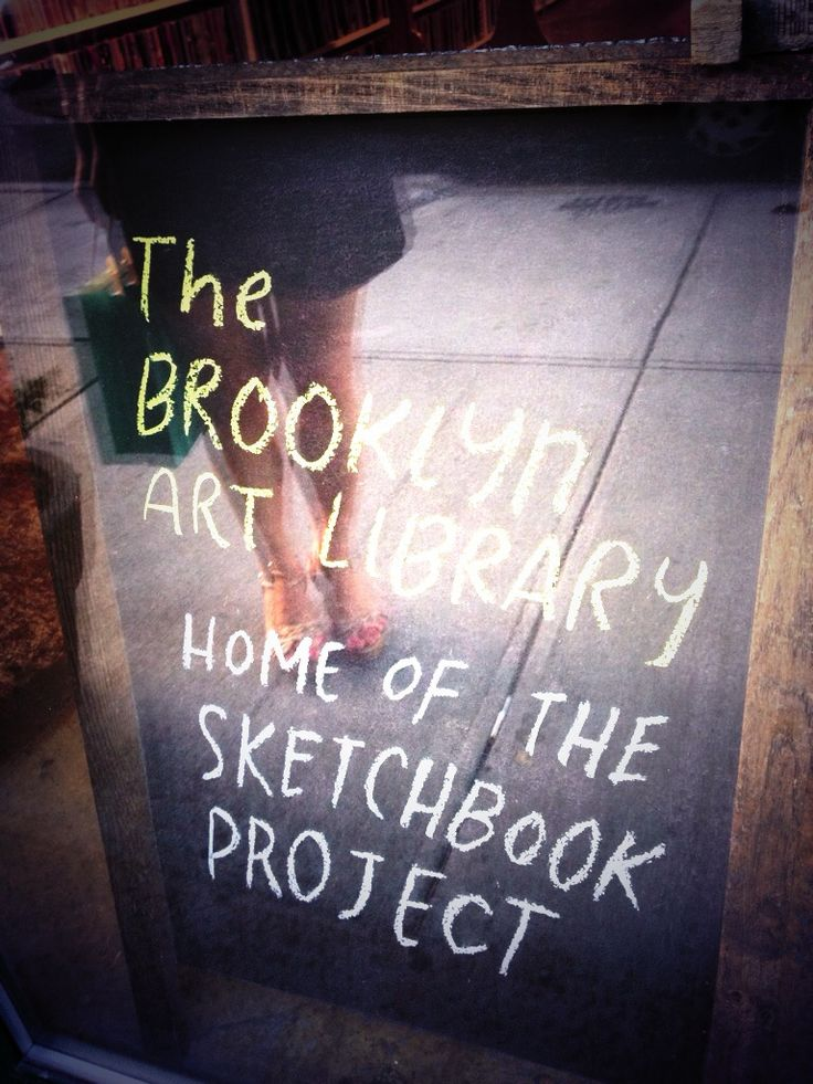 Sign for the sketchbook project in Brooklyn