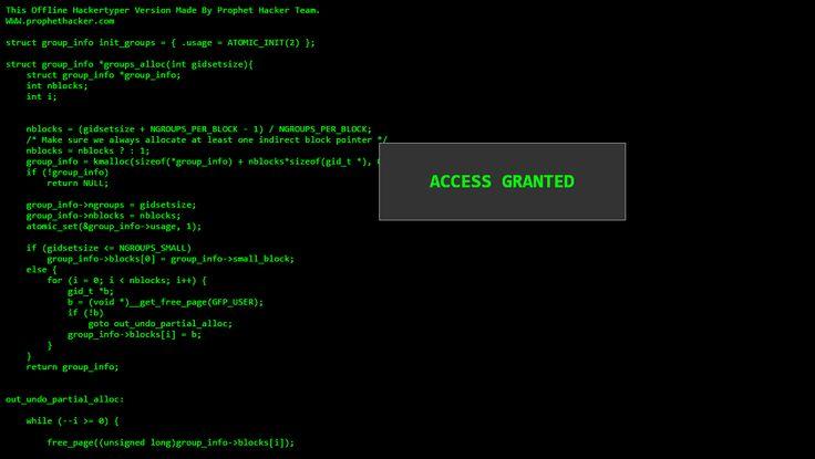 Run HackerTyper Prank Website Without Internet Offline