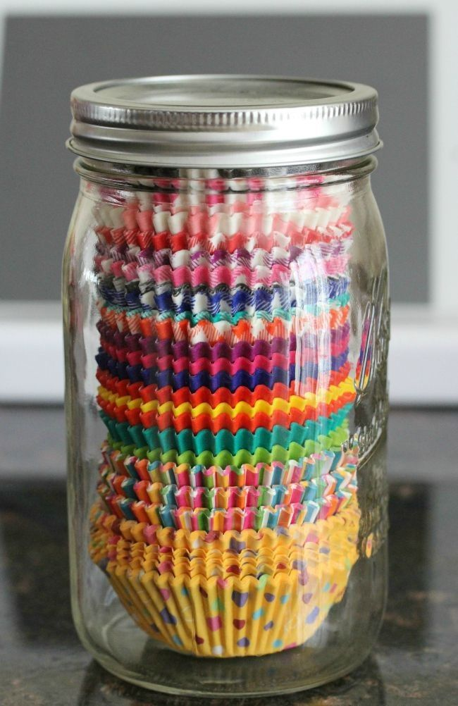 Great muffin cup storage idea. From Cheap and Awesome  Diy Kitchen Ideas Anyone Can Do 11