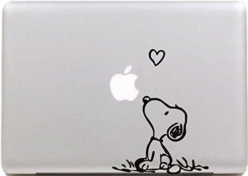 "nice Vati Leaves Removable Creative Love Snoopy Decal Sticker Skin Art Black for Apple Macbook Pro Air Mac 13"" 15"" inch / Unibody 13"" 15"" Inch Laptop"