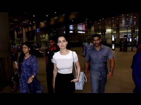 WATCH Kangana Ranaut spotted outside Mumbai Airport. See the full video at : https://youtu.be/8-KKvSiseZY #kanganaranaut