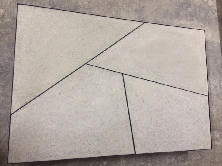A geometric concrete wall or floor panel made by gfrc.