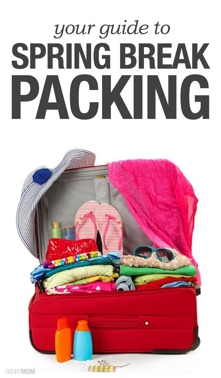 Pack right with this checklist for spring break!