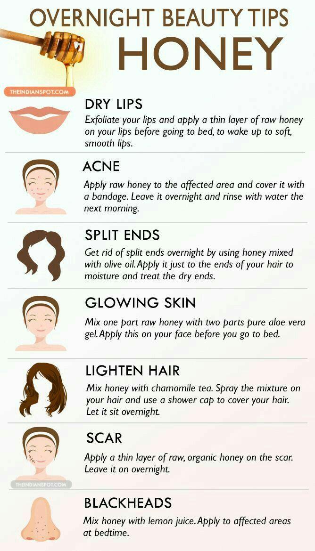 Pin By Juli On Beauty Tips Beauty Tips With Honey Overnight Beauty