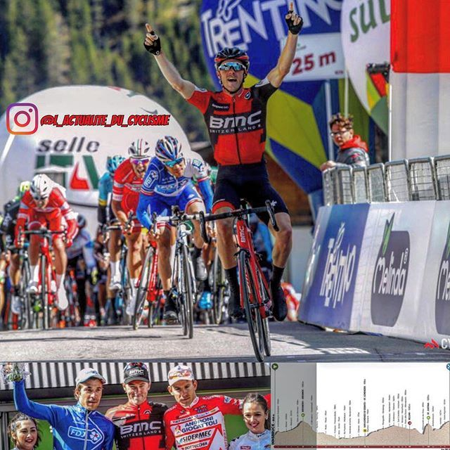 Rohan Dennis (BMC) wins the 2nd stage of the Tour of the Alps (2.HC) just before Thibaut Pinot (FDJ) and Davide Ballerini (Androni). Pinot is the new leader.  Rohan Dennis (BMC) s'impose lors de la 2ème étape du Tour des Alpes (2.HC)...