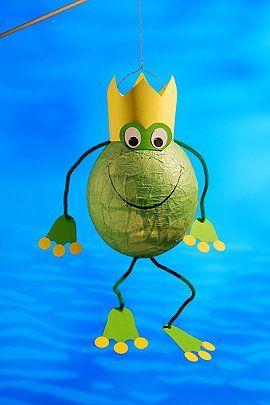 Frosch-Laterne basteln