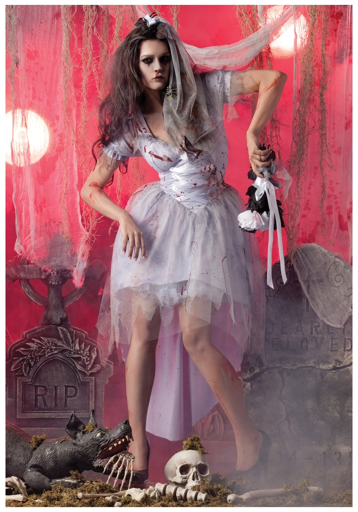 Womens Zombie Bride Costume for halloween