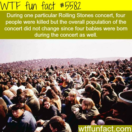 Rolling Stones concert - WTF fun facts