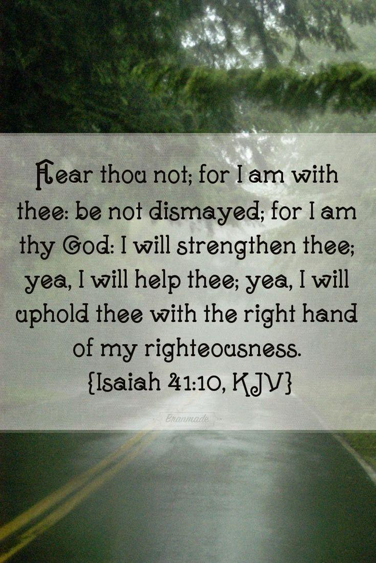 Bran Made Tags: February 2015 #1 Isaiah 41:10 kjv