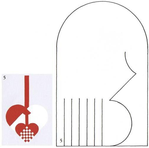 template for fancy Swedish heart ornament ... Flettehjerter - Sådan fletter du julehjerter. Masser af skabeloner