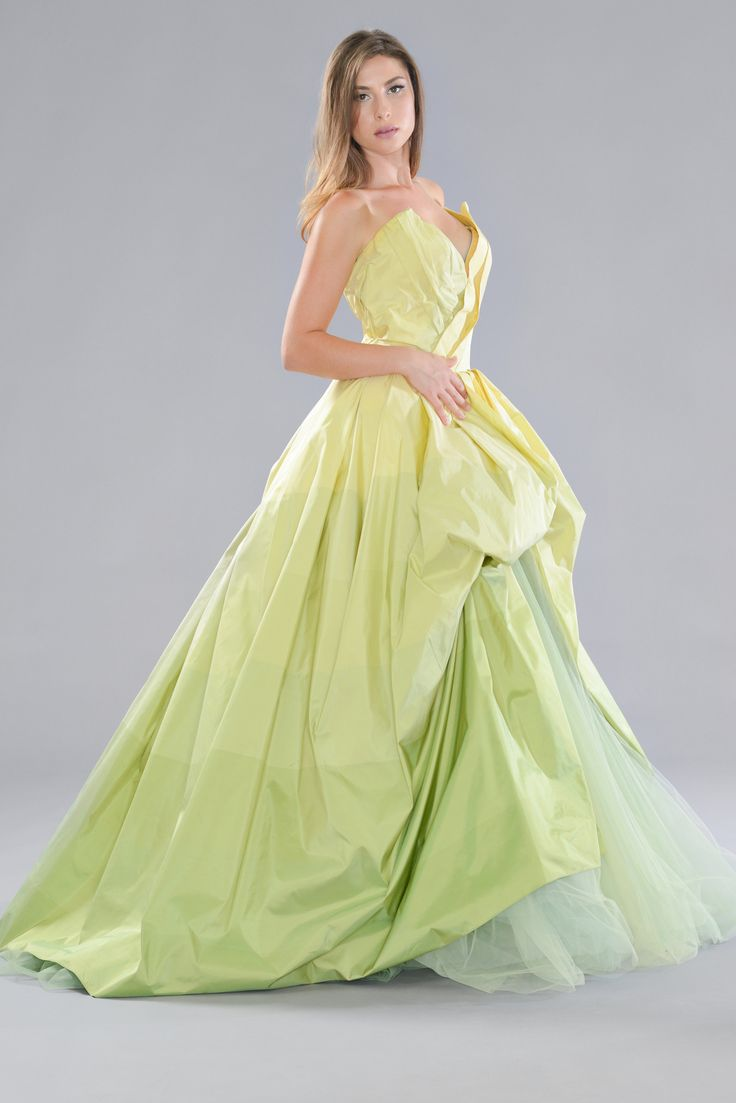 49 best dresses images on pinterest bridal gowns wedding shades of lime and chartreuse gown ombrellifo Images