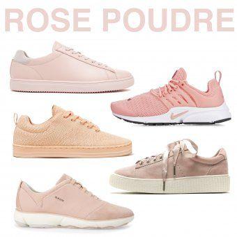 Le rose poudre tendance chaussures printemps ete 2017