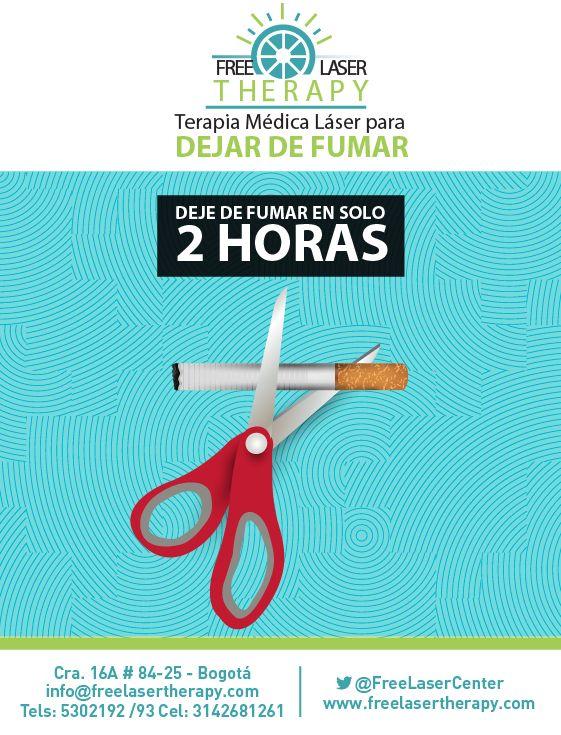Dejar de fumar si es posible. Nosotros le ayudamos!  #dejardefumar Www.freelasertherapy.com Twitter: @freelasercenter Fbk: Free Laser Medical Therapy  Citas de informacion y valoración sin costo: 5302192/93 Cel: 3142681261