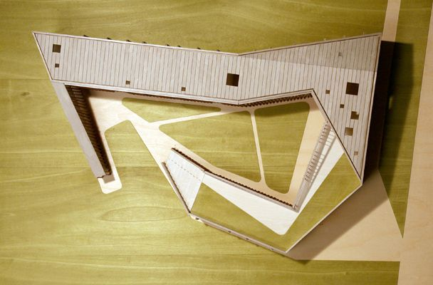 Cino Zucchi Architetti Foresteria studenti Fabrica Ponzano Veneto, architectural model, maqueta, modulo