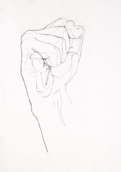 Dibujo de puño I by Roberto Almarza #pencil #drawing #hand
