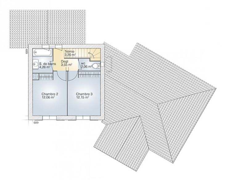 275 best Planimetrie images on Pinterest Floor plans, Home plants - plan maison france confort