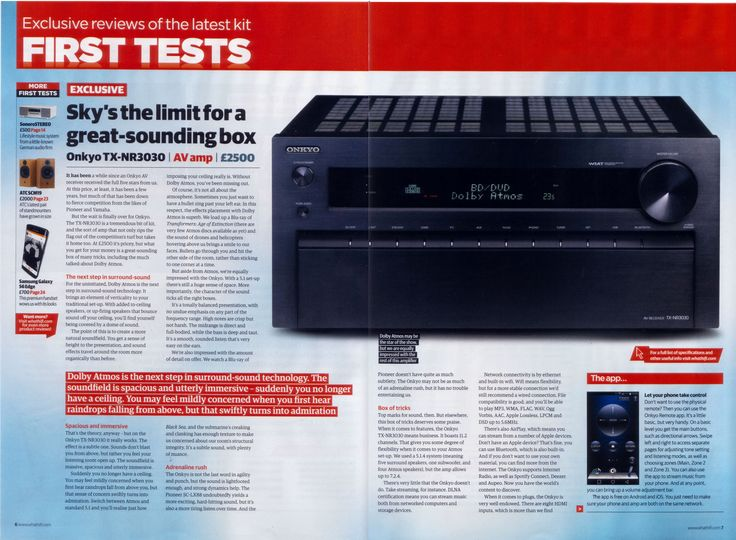 Proud to see our TX-NR3030 as a 5 star recommendation in Whathifi.com - Page 1 of 2