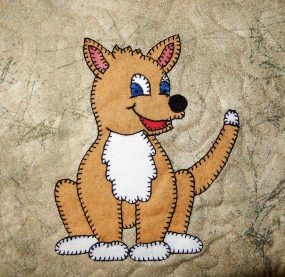 Dingo or wild dog PDF applique pattern Australian by MsPDesignsUSA